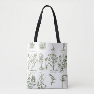 Plants from Culpeper's 'English Physician and Comp Tote Bag