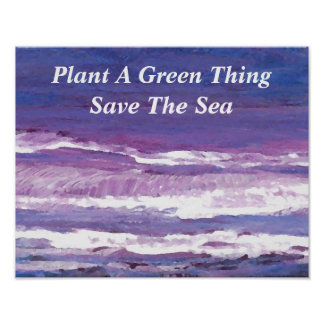 Plants Green Ocean Sea Poster Climate Change 2