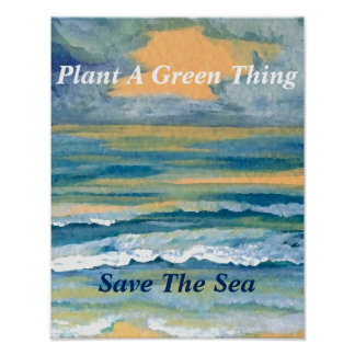 Plants Green Ocean Sea Poster Climate Change 7