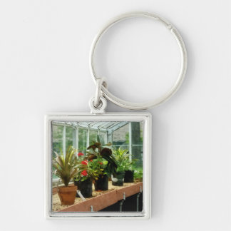 Plants in Greenhouse Keychain