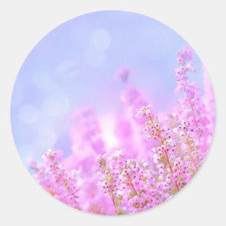 Plants in nature classic round sticker