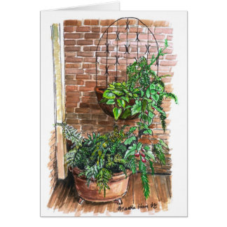 Plants in tubs card