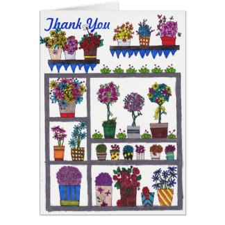 Plants on Shelves Thank You Card