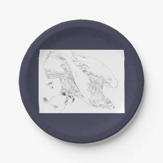 plaque à papier équilibrée dans le bleu avec Eagle Assiette En Papier 17,8 Cm