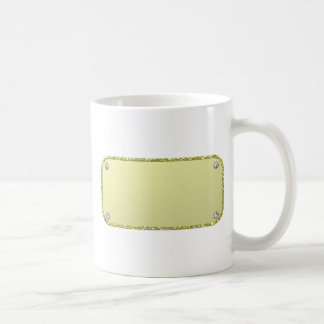 plaque coffee mug