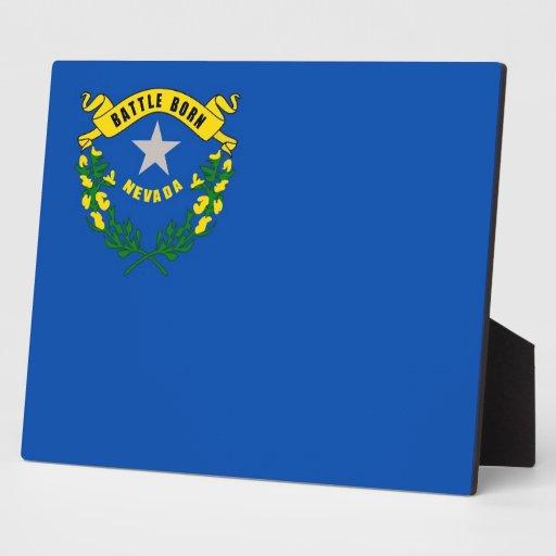 Plaque de drapeau d'état du Nevada Photo Sur Plaque