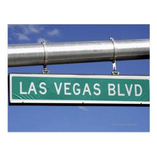 Plaque de rue de Las Vegas Boulevard - la bande Carte Postale