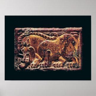 Plaque de style d'Ordos, 3ème-2ème siècle AVANT JÉ Poster