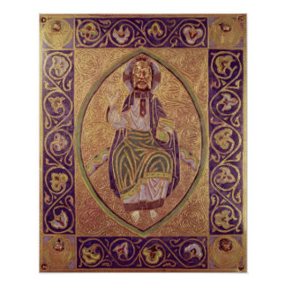 Plaque depicting Christ blessing Poster