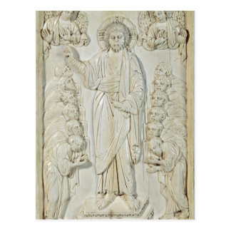 Plaque depicting Christ blessing the Apostles Postcard