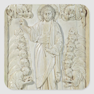 Plaque depicting Christ blessing the Apostles Square Sticker
