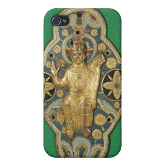 Plaque depicting God blessing iPhone 4/4S Cases