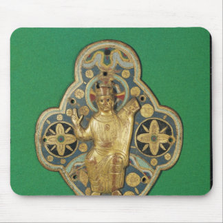 Plaque depicting God blessing Mouse Pad