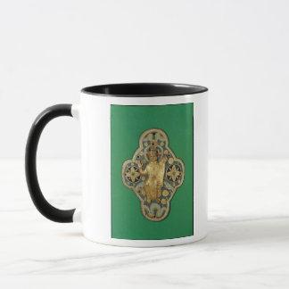 Plaque depicting God blessing Mug