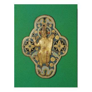 Plaque depicting God blessing Postcard