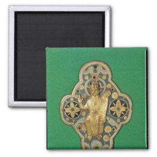 Plaque depicting God blessing Square Magnet