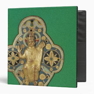 Plaque depicting God blessing Vinyl Binder