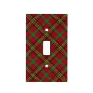 Plaque Interrupteur Motif traditionnel de tartan de Noël de vacances