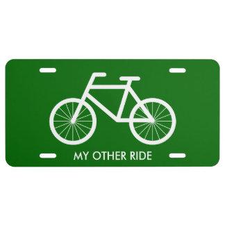 Plaque minéralogique de bicyclette pour des enthou plaque d'immatriculation