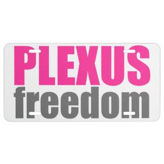 Plaque minéralogique de liberté de plexus plaque d'immatriculation