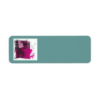 Plaque tournante étiquette d'adresse retour