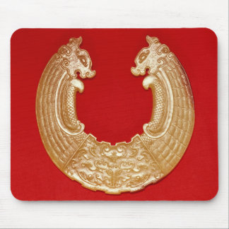 Plaque with two dragons and a Tao-tie mask Mouse Pad