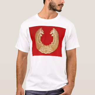 Plaque with two dragons and a Tao-tie mask T-Shirt