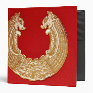 Plaque with two dragons and a Tao-tie mask Vinyl Binder