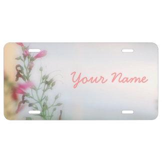 Plaques minéralogiques florales customisées de pho plaque d'immatriculation
