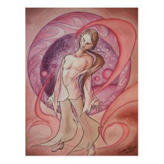 Plasma Fire Figure Postcard