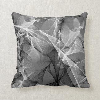 Plasma - shades of gray throw pillow