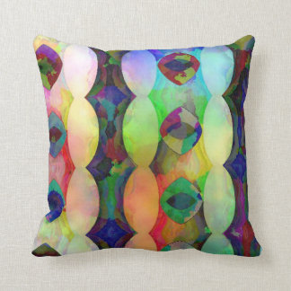 Plasma Vertical Diamonds and Ovals Throw Pillow