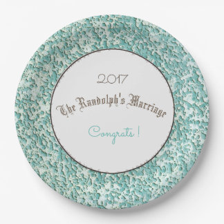 PLASTER-YARN-TWINE-CIRCLE-CELEBRATION-TEMPLATE 9 INCH PAPER PLATE