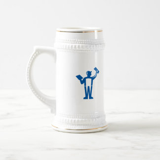 Plasterer Masonry Trowel Rear View Retro Beer Stein