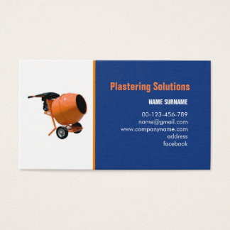 Plastering service business card