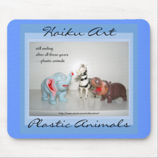Plastic Animals Haiku Art Mousepad