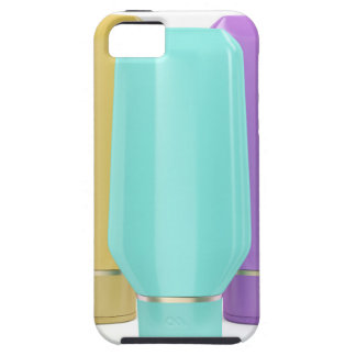 Plastic bottles for cosmetic products case for the iPhone 5