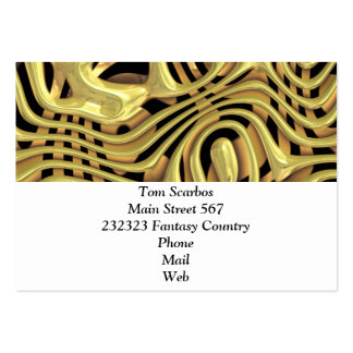 plastic fantasy yellow (I) Pack Of Chubby Business Cards