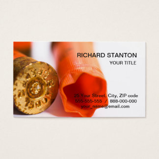 Plastic hunt cartriges business card