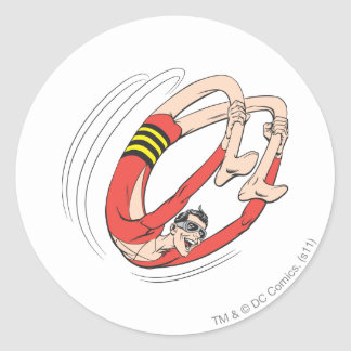 Plastic Man Backbend Wheel Round Sticker