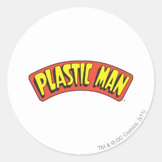Plastic Man Logo Round Sticker
