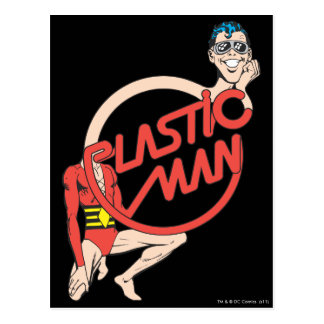 Plastic Man Rubberneck Sign Postcard