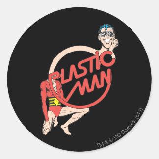 Plastic Man Rubberneck Sign Round Sticker