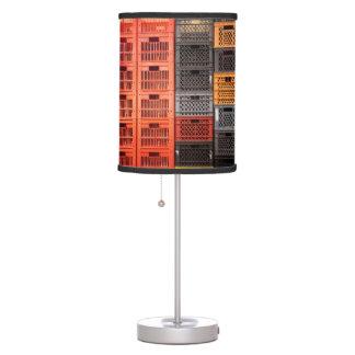 Plastic Milk Storage Crates Table Lamp