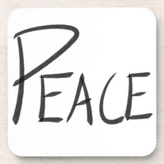 Plastic Peace Coaster Set of 6