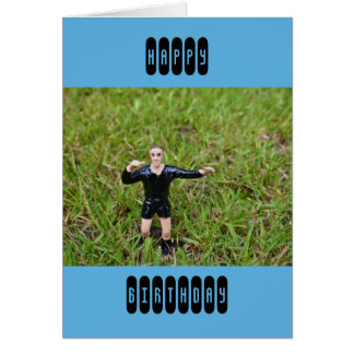 Plastic Referee at a Football/Soccer Match Card