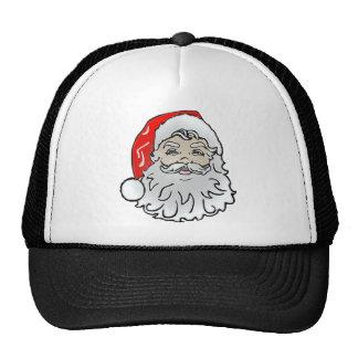 Plastic Santa Face Trucker Hat
