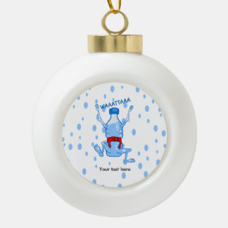 Plastic Water Bottle Martial Arts Ceramic Ball Ornament