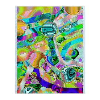 Plasticine fields abstract  wall art