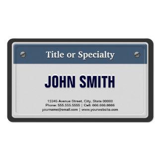 Plat comporté et frais de carte grise carte de visite standard